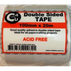 Crafts4U 100mm x 20m Double Sided Tape 30010