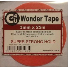 Crafts4U 3mm x 25m Wonder Tape 30011