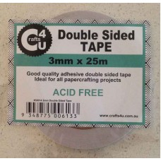 Crafts4U 3mm x 25m Double Sided Tape 30014