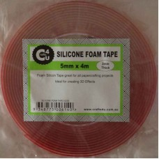 Crafts4U 5mm x 4m x 2mm Thick Clear Silicone Foam Tape 10235