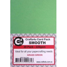 Crafts4U A5 Card 20Pk Smooth Grass Green 40000