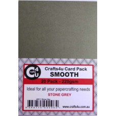 Crafts4U A5 Card 20Pk Smooth Stone Grey 40011