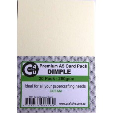 Crafts4U A5 Card 20Pk Dimple Embossed Cream 40031