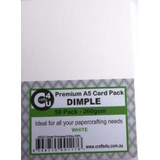 Crafts4U A5 Card 50Pk Dimple Embossed White 40032