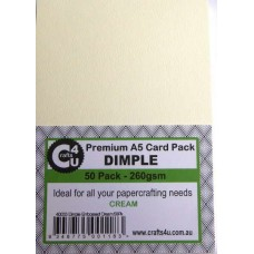 Crafts4U A5 Card 50Pk Dimple Embossed Cream 40033