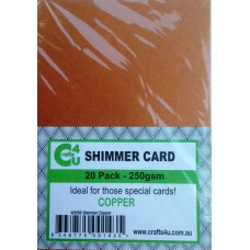 Crafts4U A5 Card 20Pk Shimmer Copper 40058