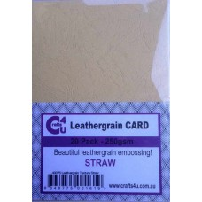 Crafts4U A5 Card 20Pk Leathergrain Texture Straw 40076