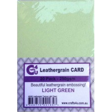 Crafts4U A5 Card 20Pk Leathergrain Texture Light Green 40080