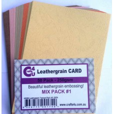Crafts4U A5 Card 50Pk Leathergrain Texture Pack 1 40089