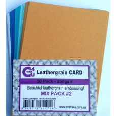 Crafts4U A5 Card 50Pk Leathergrain Texture Pack 2 40090