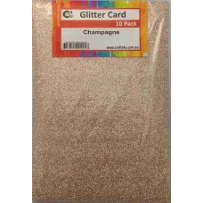 Crafts4U A5 Glitter Champagne 10 Pack 60019