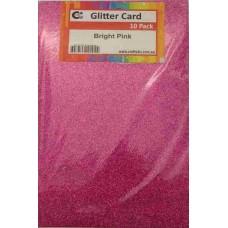 Crafts4U A5 Glitter Bright Pink 10 Pack 60022