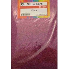 Crafts4U A5 Glitter Plum 10 Pack 60023