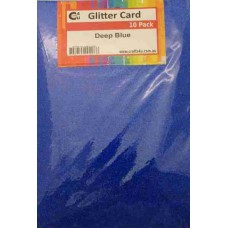 Crafts4U A5 Glitter Deep Blue 10 Pack 60024