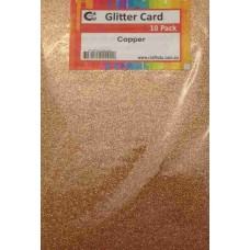 Crafts4U A5 Glitter Copper 10 Pack 60027