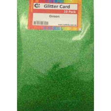 Crafts4U A5 Glitter Green 10 Pack 60028