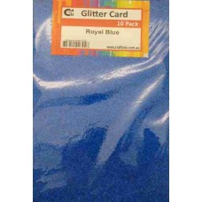 Crafts4U A5 Glitter Royal Blue 10 Pack 60030
