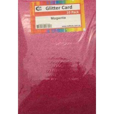 Crafts4U A5 Glitter Magenta 10 Pack 60033