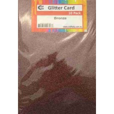 Crafts4U A5 Glitter Bronze 10 Pack 60036