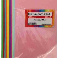Crafts4U A5 Rainbow Mix 50 Pack 230gsm 60045