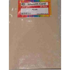 Crafts4U A5 Card Smooth Oatmeal Kraft 60046a