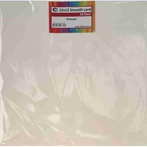 Crafts4U 12x12in Smooth Card 10Pk Cream 10257