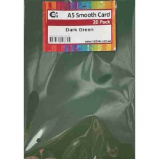 Crafts4U A5 Smooth Card 20Pk Dark Green 10259