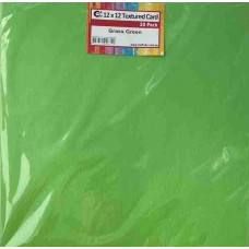 Crafts4U 12x12in Textured Card 10Pk Grass Green 10269