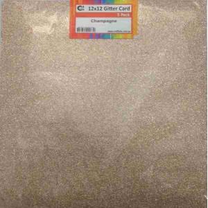 Crafts4U 12 x 12 Glitter Champagne 5 Pack 60001