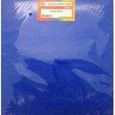 Crafts4U 12 x 12 Glitter Deep Blue 5 Pack 60006