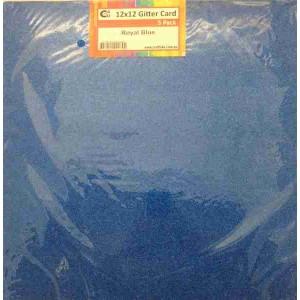 Crafts4U 12 x 12 Glitter Royal Blue 5 Pack 60012