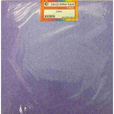 Crafts4U 12 x 12 Glitter Lilac 5 Pack 60013