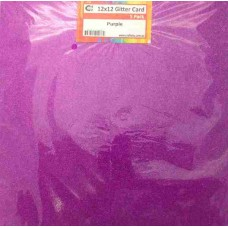 Crafts4U 12 x 12 Glitter Purple 5 Pack 60014