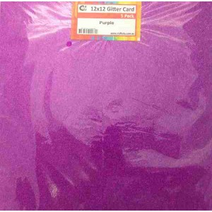 Crafts4U 12 x 12 Glitter Purple 5 Pack 60014