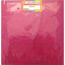 Crafts4U 12 x 12 Glitter Magenta 5 Pack 60015