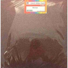 Crafts4U 12 x 12 Glitter Bronze 5 Pack 60018