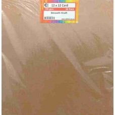 Crafts4U 12 x 12 Smooth Kraft 20 Pack 250gsm 60051