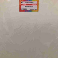 Crafts4U 12 x 12 Weave Cream 10 Pack 230gsm 60054