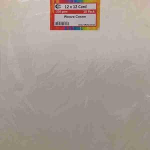 Crafts4U 12 x 12 Weave Cream 10 Pack 230gsm 60054