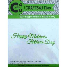 Crafts4U Script Die Happy Mothers Fathers Day 10079