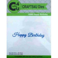 Crafts4U Script Die Happy Birthday 10080