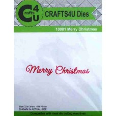 Crafts4U Script Die Merry Christmas 10081