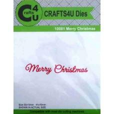 Crafts4U Script Die Merry Christmas 10081