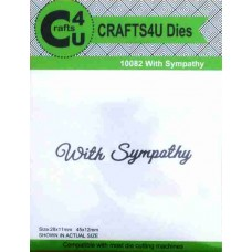 Crafts4U Script Die With Sympathy 10082