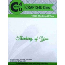 Crafts4U Script Die Thinking of You 10084