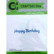 Crafts4U Die Happy Birthday 10085