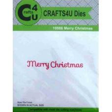 Crafts4U Die Merry Christmas 10086