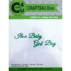 Crafts4U Die Its a Baby Boy Girl 10090