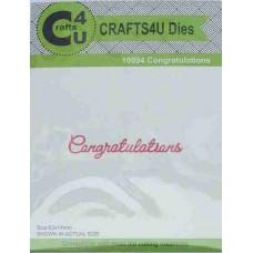 Crafts4U Die Script Congratulations 10094