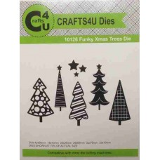 Crafts4U Die Funky Xmas Trees 10126